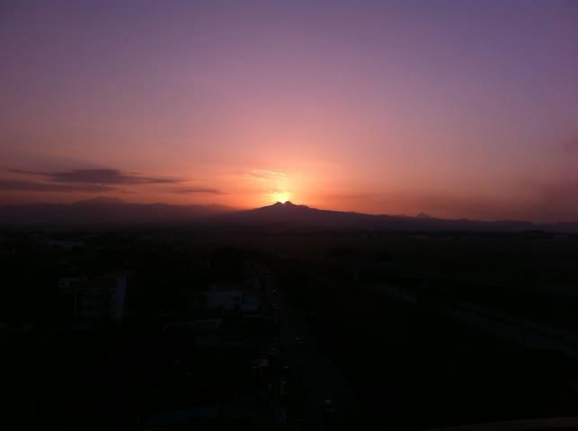 Beautiful sunset views over Mt Pinatubo