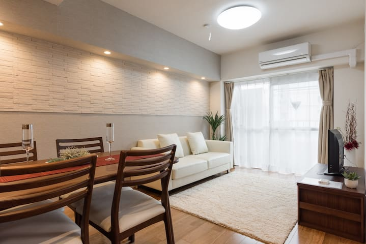 New open!2 bedrooms 10 mins walk to Shinagawa Sta. - Minato-ku - Lägenhet
