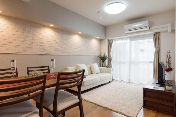New open!2 bedrooms 10 mins walk to Shinagawa Sta. - Minato-ku - Departamento