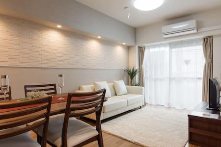 New open!2 bedrooms 10 mins walk to Shinagawa Sta. - Minato-ku - Apartamento