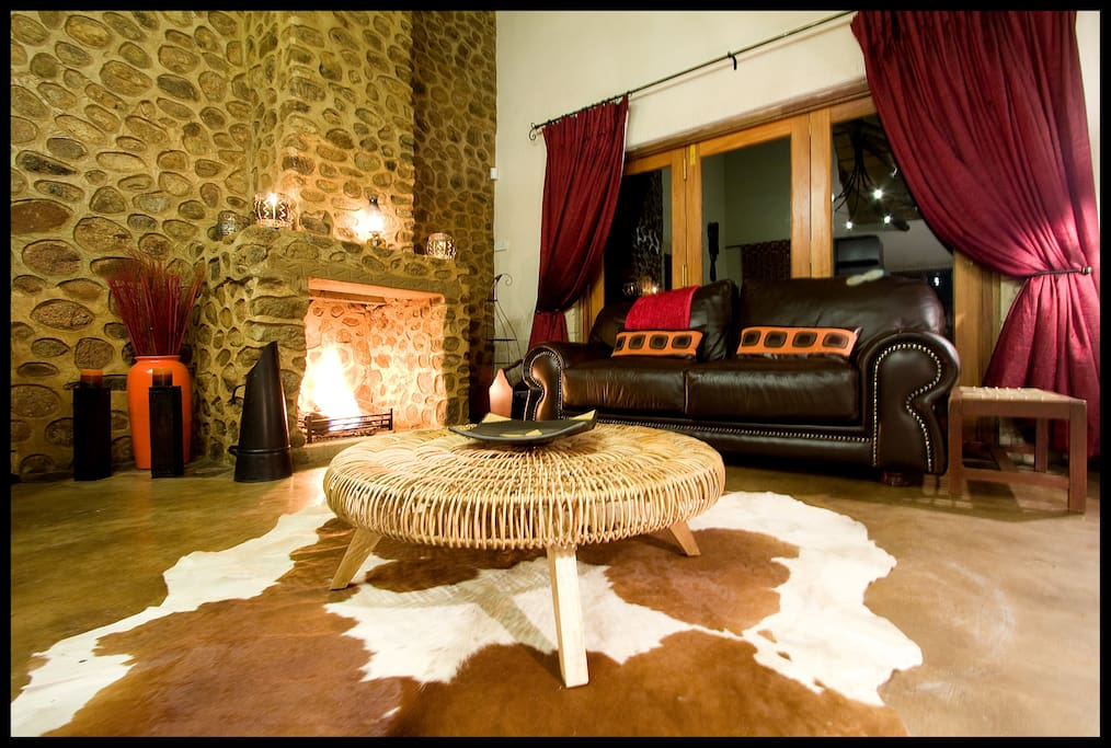 Cosy inside fireplace for those cold winter nights