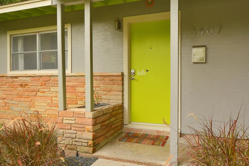 Our 1956 Austin home features mid century charm with all the modern updates