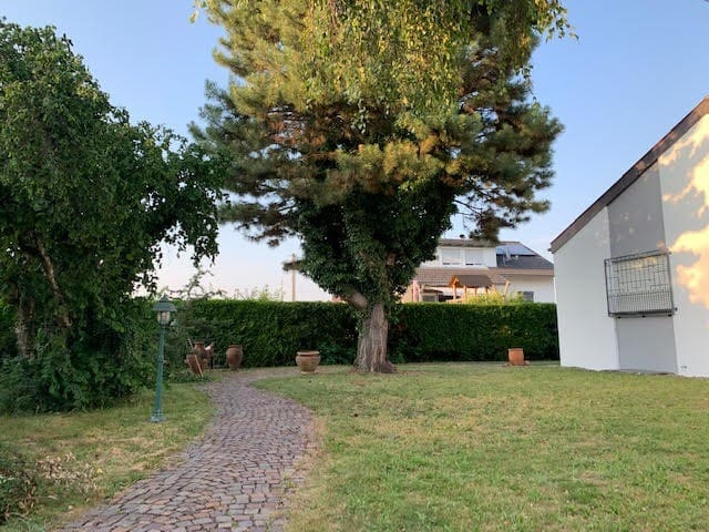 House with idyllic garden 11 km to Lake Constance