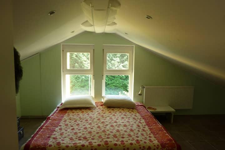 Schönes Dachgeschoß im Grünen