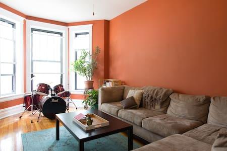 Sunny bedroom in Pilsen - Chicago - Apartment