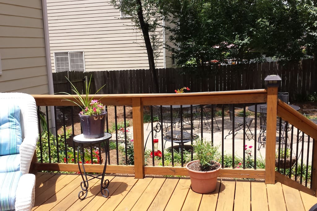Back deck and patio area