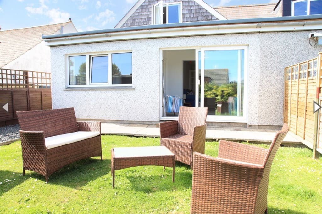 Your own private south facing garden, ideal for a bbq and a glass of wine!