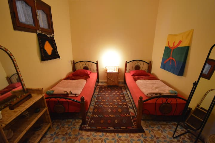 Twin Bedroom in Tamraght with WIFI