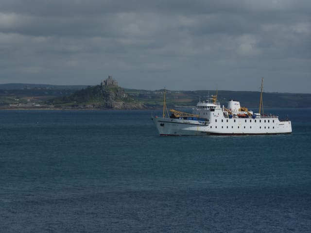 Scillonian III, returning from the Isles of Scilly.  Crossings available from Easter to the end of October approx.