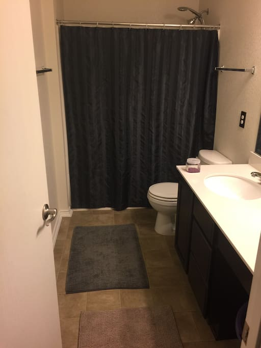 Own clean bathroom with full size shower and sink!