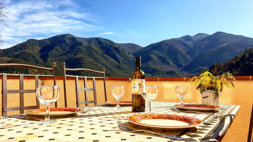 Stunning mountain views, private pool