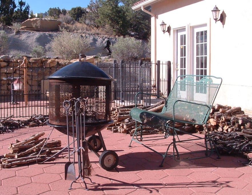 Enclosed Patio with Fire Pit