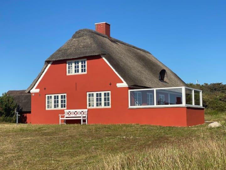 Hyggeligt hus m. udsigt til plantage, fjord og hav