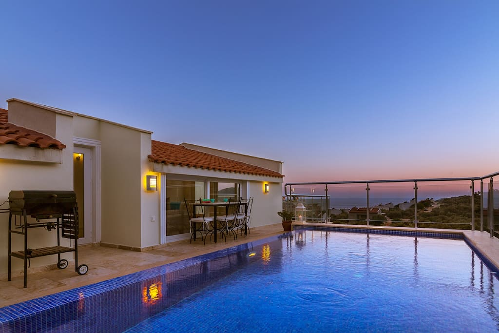 Beautiful views and sunset from pool and surround terraces