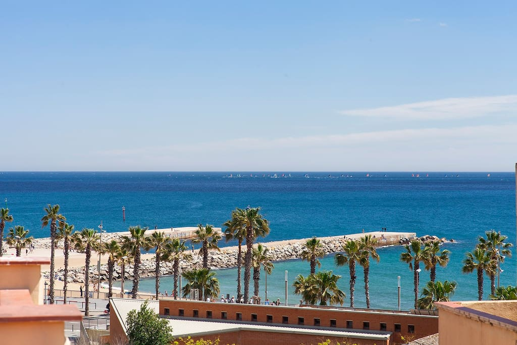 balcony, sea views, Barceloneta