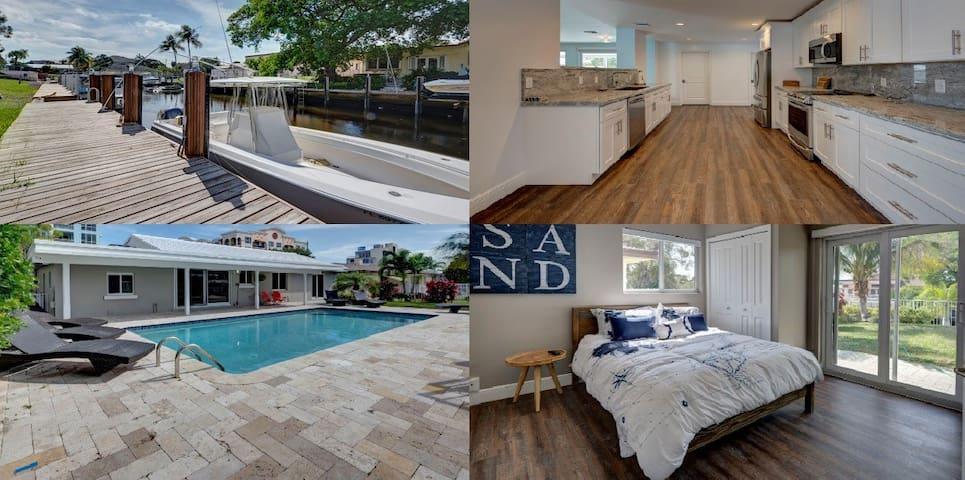 House on water *2 blocks to beach *Pool *Boat Dock