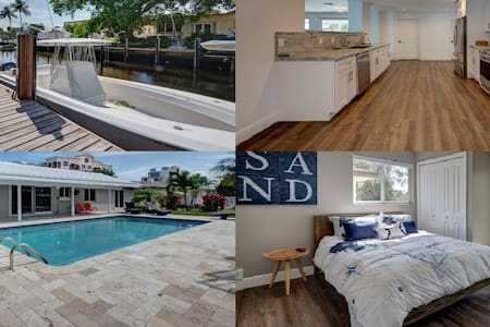 2 blocks to the beach*Dock*Ocean Access*Pool*Grill