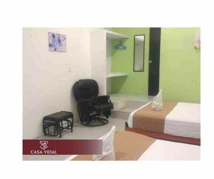 Hotel Via Mayab® ZACI Downtown: A/C +WiFi+TV+2'🛏+🅿️