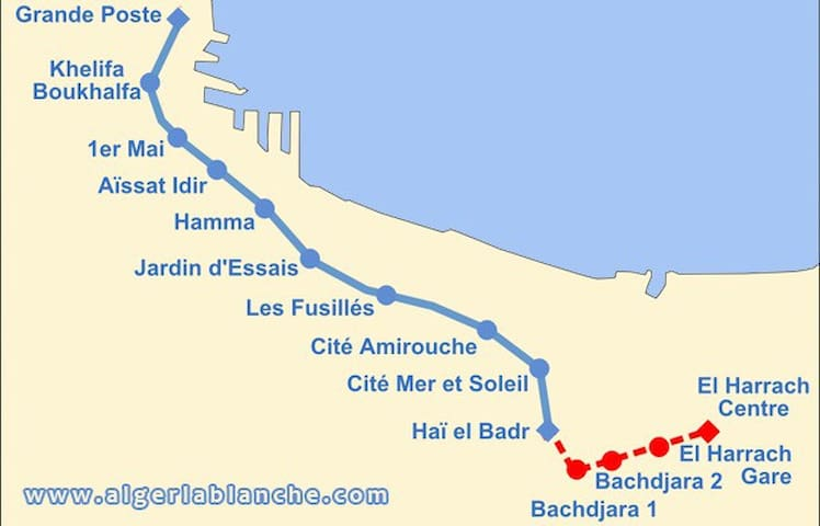 Bel apt à Bachdjarah à 2 min metro - Bachdjerah - Apartment