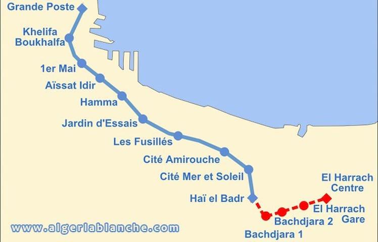 Bel apt à Bachdjarah à 2 min metro - Bachdjerah