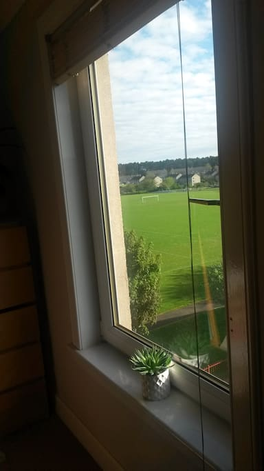 View from bedroom window, just missing the Pentland hills that also surround us.