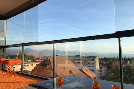 Lausanne Deluxe view appartement Close center town