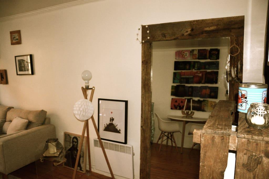 Cosy leavingroom inspired by Scandinavian decoration