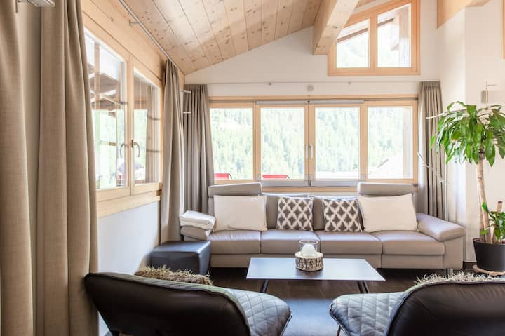 Modern chalet, central location & family-friendly