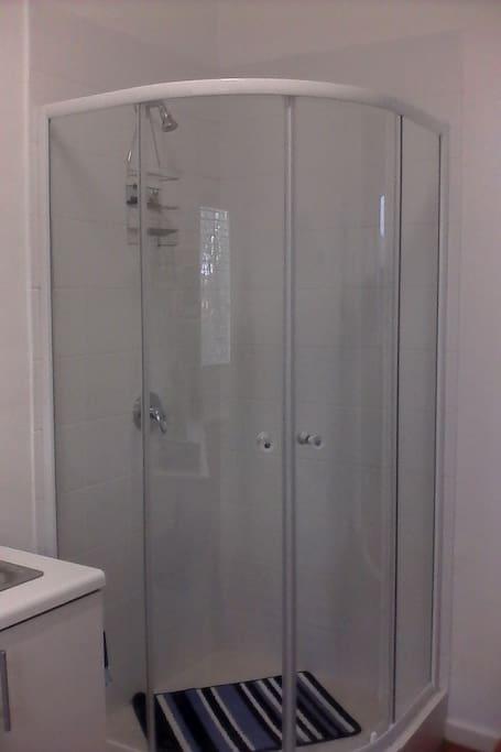 Newly built shower