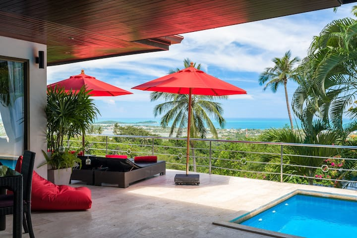 Chaweng - 3 bed sea view villa