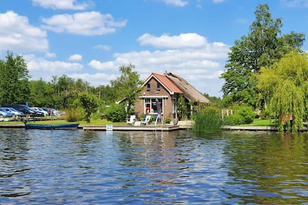 holiday cottage on the water in nature reserve