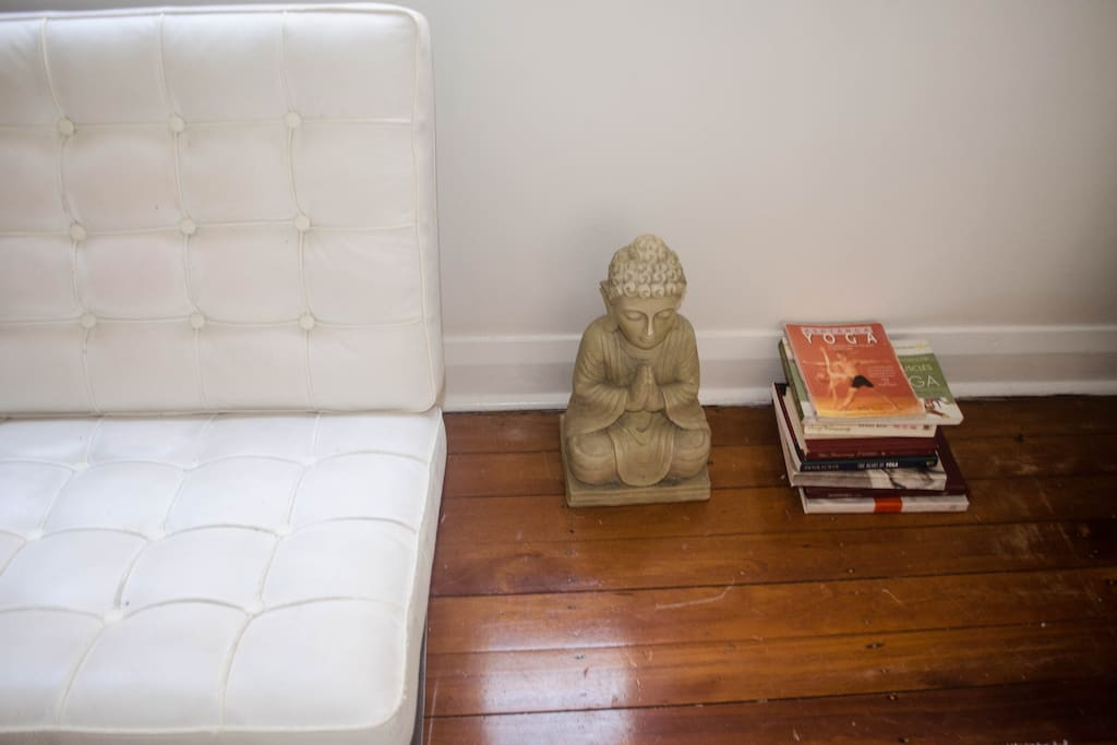 Flick through some yoga books or do a spot of meditation as it does wonders for the mind.