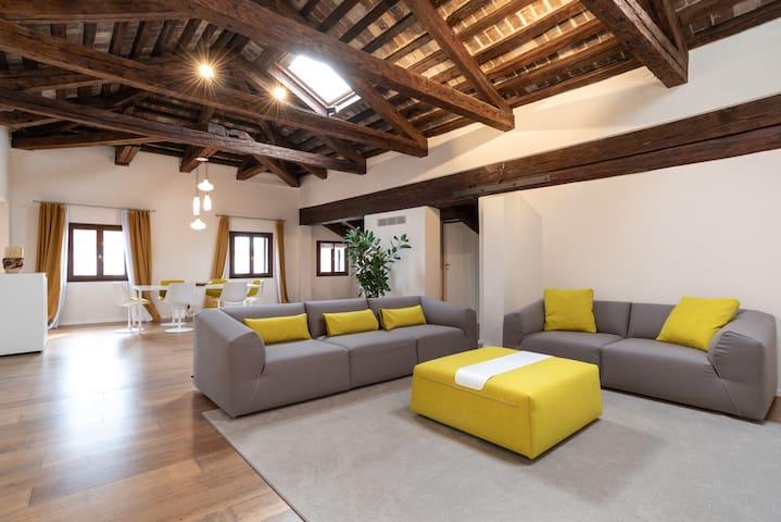 Spacious and luminous living room
