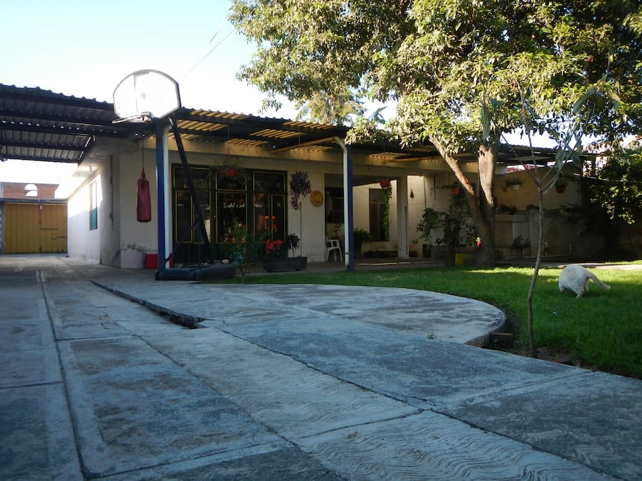 Enjoy a pleasant and quiet stay in a safe and central area between the city of Puebla and Cholula. The house has a beautiful garden and areas where you can do some workout. Pets are welcomed.
