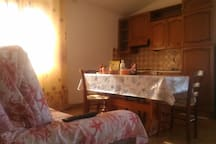 The kitchen from the sofa