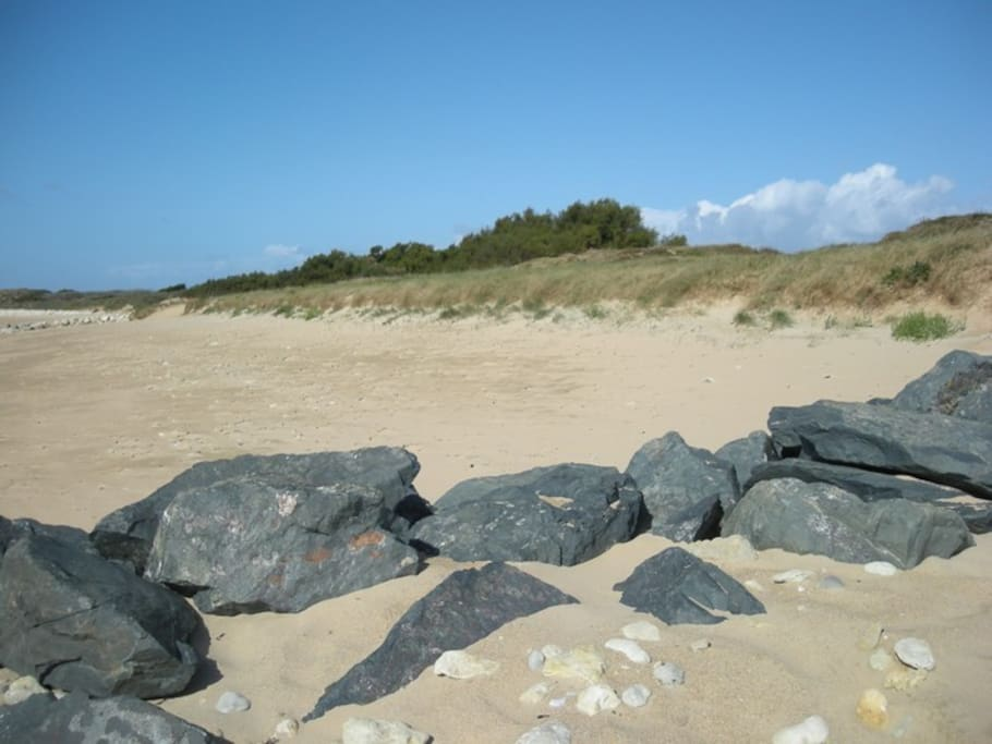 la plage - accessible a pied par  un petit sentier