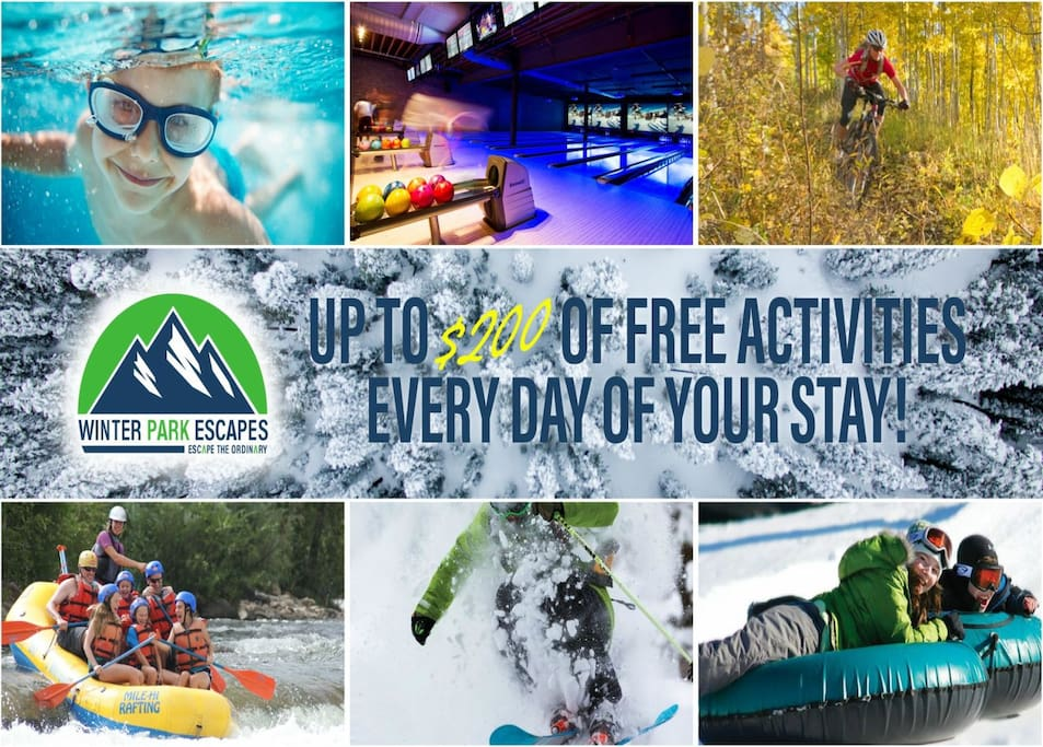 Up to $200 a day of free activities on us.