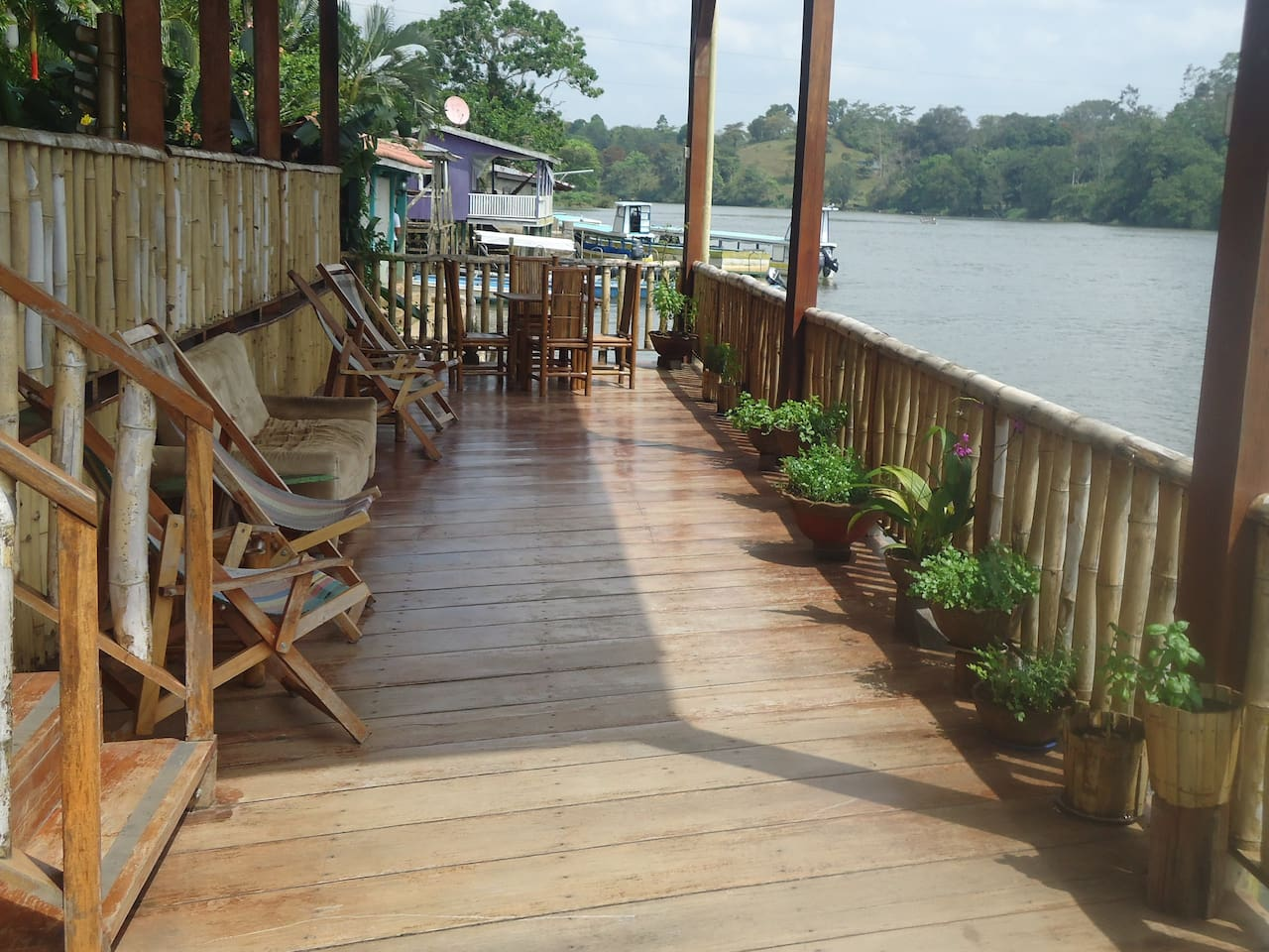 Front deck with view of Rio San Juan