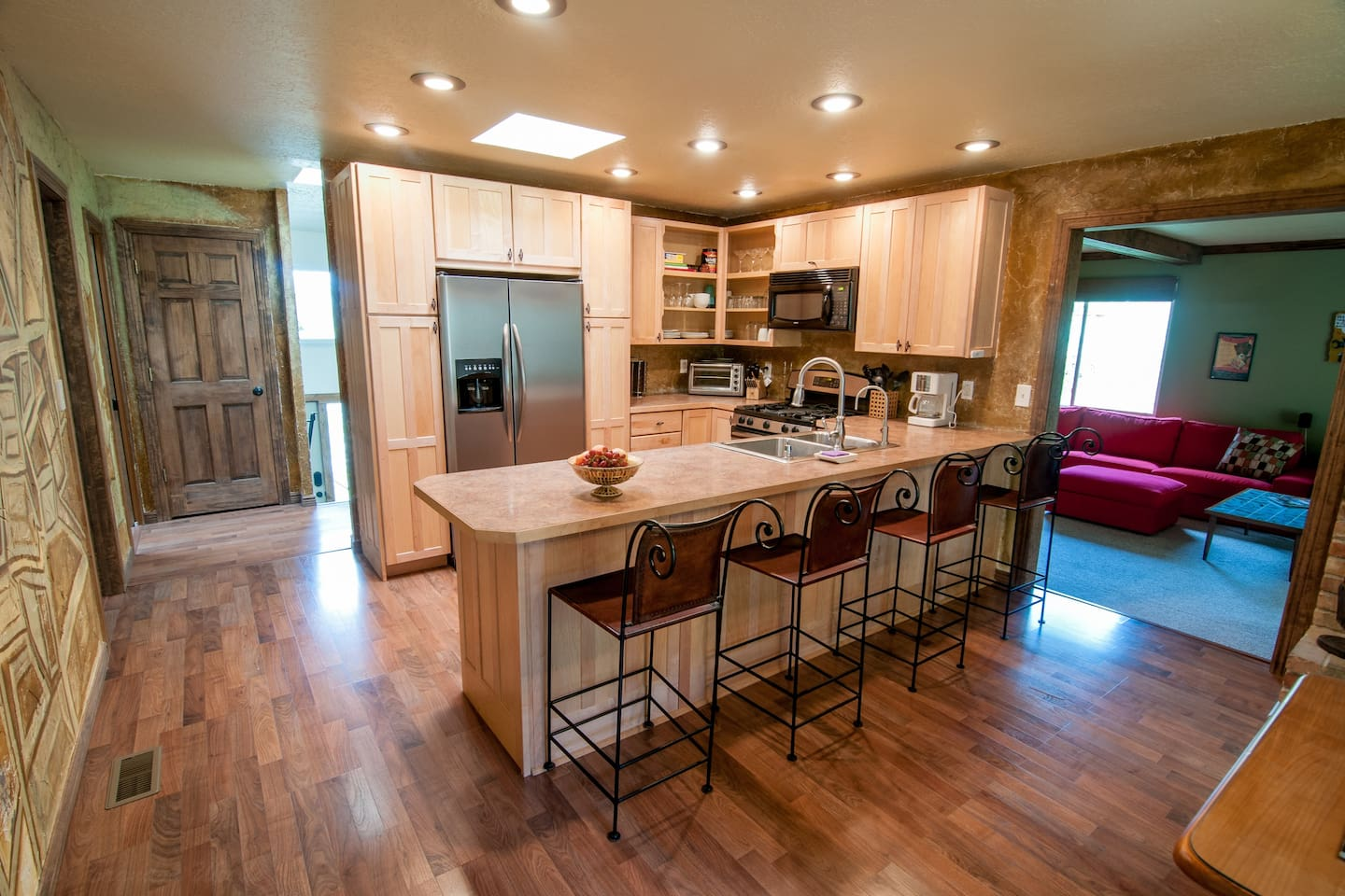 Spacious kitchen with gas stove and all updated appliances.