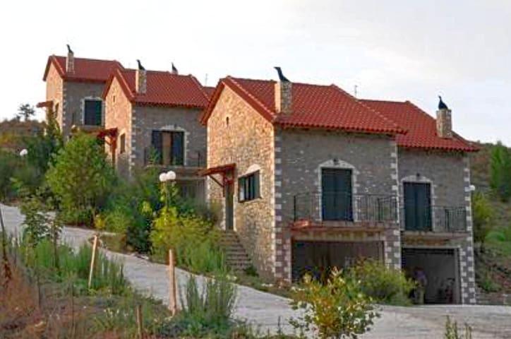 Παραδοσιακές πέτρινες κατοικίες.