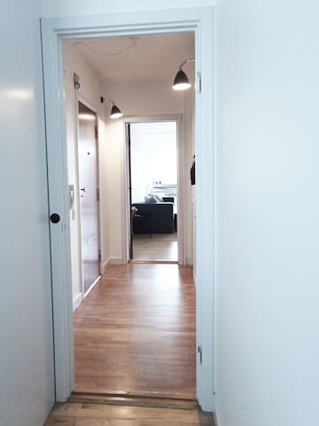 Hall, view to the livingroom