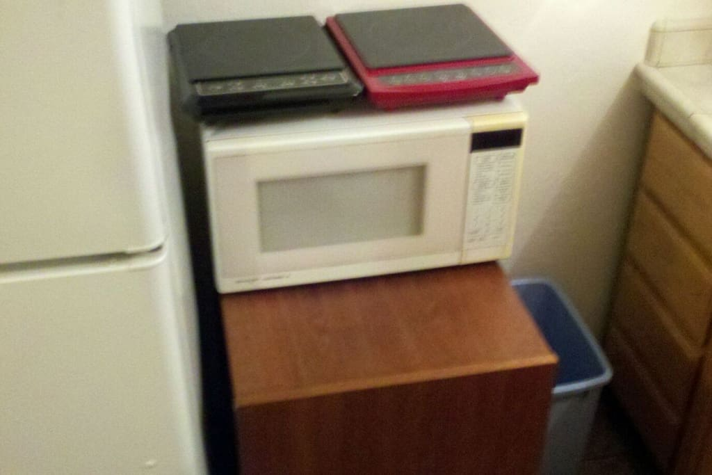 Microwave and 2 hot plates (No Oven)