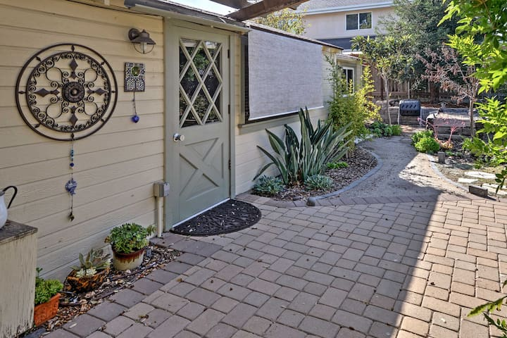 This quaint cottage offers all the comforts of home and a peaceful environment.