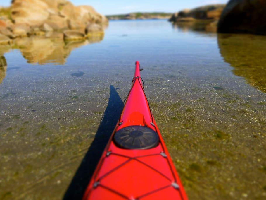 Ocean kayak to be rented.