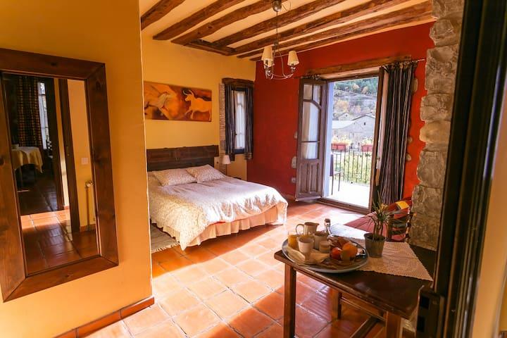 casa arana - habitación - ordesa - Albella - Casa