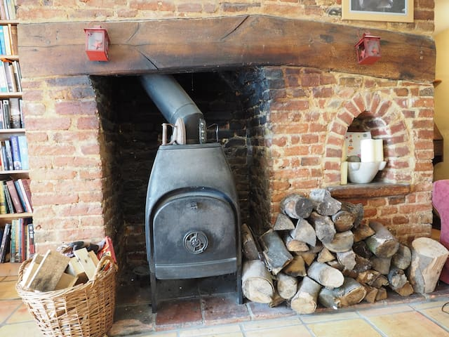 Woodburner in main lounge - available for use in winter, spring and autumn.