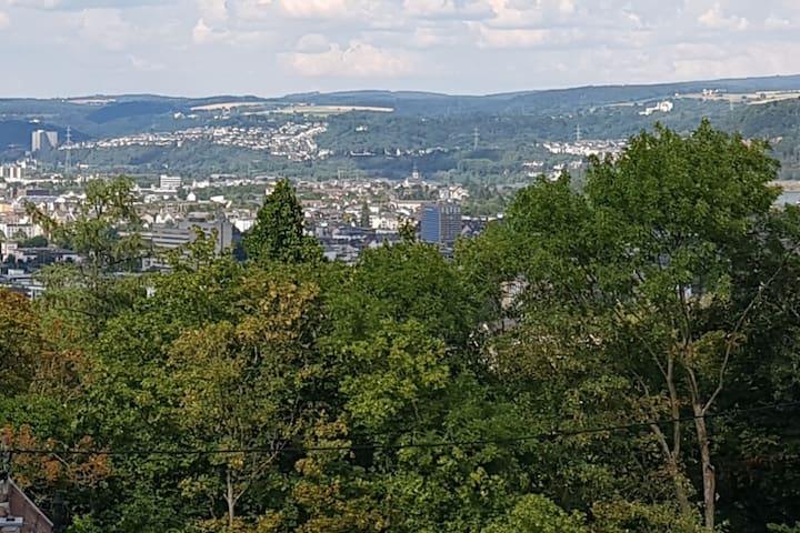 Über den Dächern von Koblenz, dem Himmel so nah