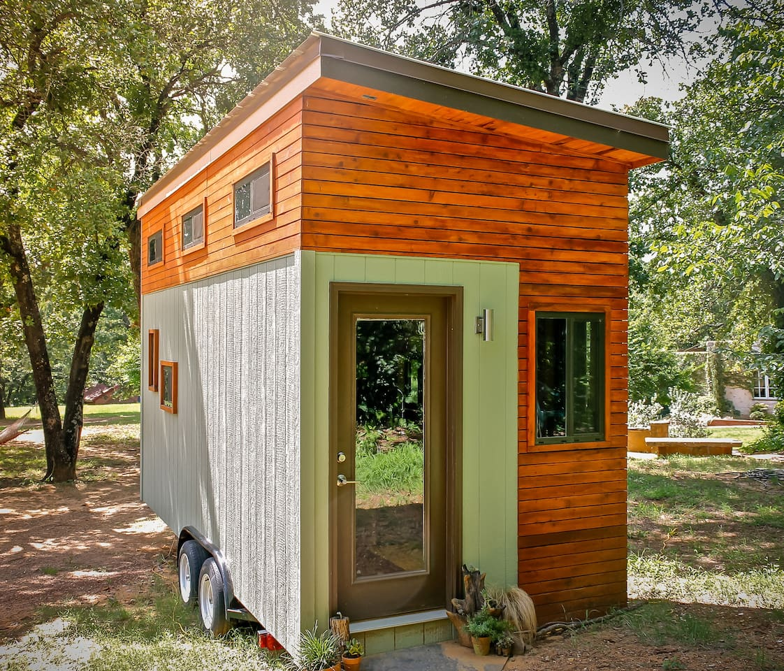 A world famous custom designed tiny home, in Eastside Austin!   Note: This photo was taken for worldwide publications before Tiny was parked in its new cozy spot in Austin's Eastside!