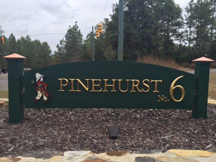 Within the Pinehurst No. 6 community.