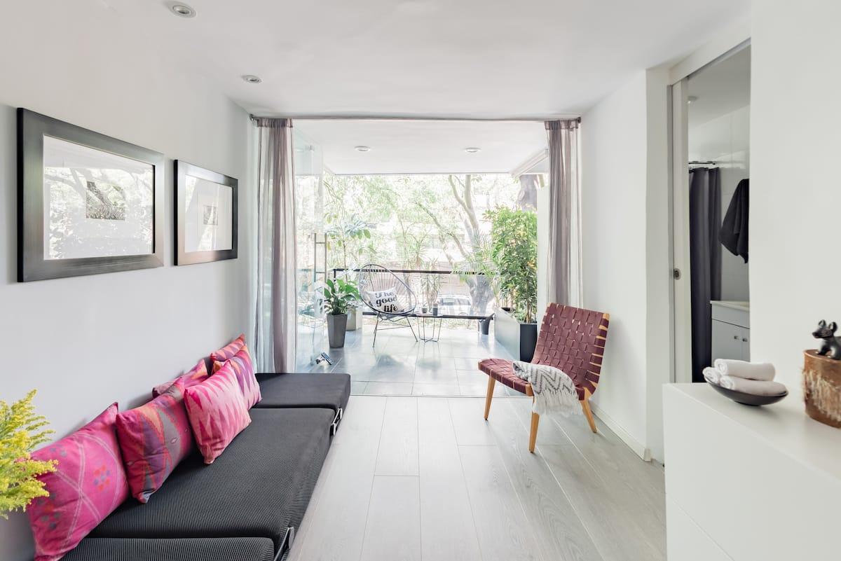 Best Location!! Loft Condesa/Roma Lovely Balcony